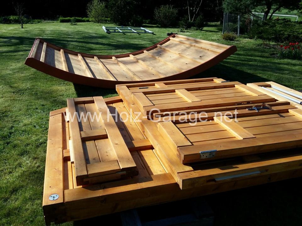 Aufbau einer Holz Garage von Holz-Garage.net