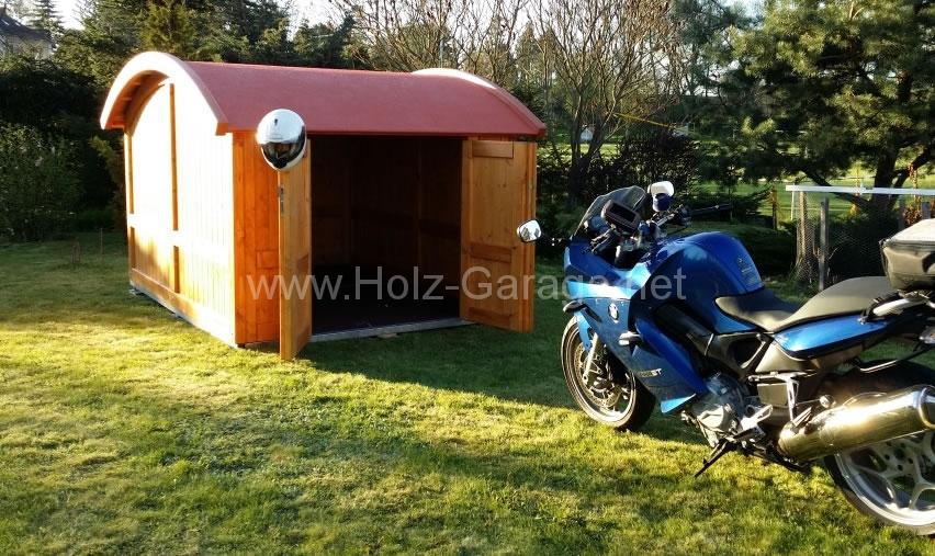 Motorradgarage aus Holz - Beispiel & Muster - Holz-Garage.net