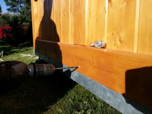 Aufbau - Verschraubung Vorbereitung - Holz-Garage.net